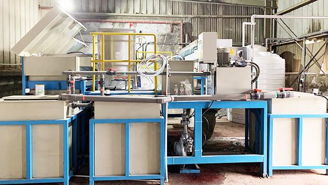 浙江大东吴绿家木业水性油漆废水处理设备案例